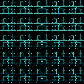 printed circuit board pattern eps10