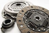 Clutch kit car on a white background