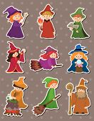 pic of witch ball  - Cartoon Wizard And Witch Stickers - JPG