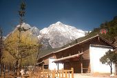 Jade Dragon Snow Mountain Near Lijiang,yunnan Province In Southwestern Of China.