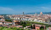 Florence aerial cityscape, Tuscany, Italy