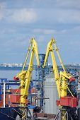 Cargo crane, ship and grain dryer