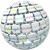 Style Word Sphere Many Diverse Fashion Trends Unique Look Skills