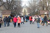 Christmas And New Year Bazaar In The Center Of Lvov