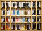waterboots are on the shop shelves