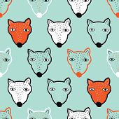 Seamless vintage grizzly bear illustration background pattern in vector for kids
