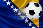 Soccer Ball Streaks Across Bosnia's Flag