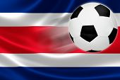 Soccer Ball Leaps Out Of Costa Rica's Flag