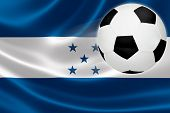 Soccer Ball Leaps Out Of Honduras' Flag