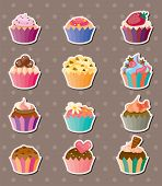 Cup-cake Stickers