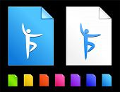 Ballet Icons on Colorful Paper Document Collection