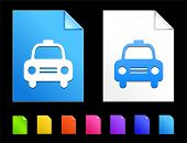 Taxi Icons on Colorful Paper Document Collection