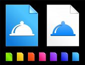 Platter Icons on Colorful Paper Document Collection