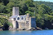 stock photo of dartmouth  - Dartmouth castle on the River Dart - JPG