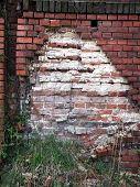Old Damaged Wall With Bricks
