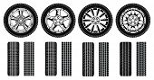 picture of four-wheel  - Illustration of four tires - JPG