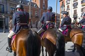Royal guards on horseback in Madrid