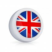 Icon with flag of UK.