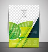 Green Nature Concept Print Template - Corporate Flyer