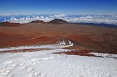 Snow on the summit of Mauna Kea, Hawaii