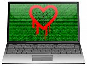 Laptop with Heartbleed bug