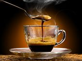 stock photo of coffee grounds  - delicious hot coffee  - JPG