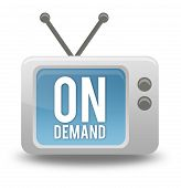 Cartoon-style TV Icon On Demand