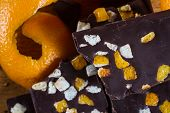 Delicious Dark Chocolate  And Orange