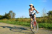 Girl Riding Bicycle