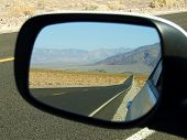 Road In The Mirror Death Valley