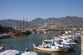 Boats In Alanya Harbour