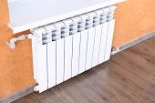 image of floor heating  - Heating radiator in room - JPG