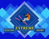 Adventure Winter Sport.Freestyle Skiing.