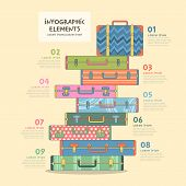 Travel Suitcase Infographics Design