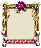 Candy Cane Bell Frame