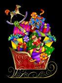 Santas Sleigh and Gifts