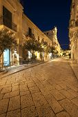 baroque street in the night