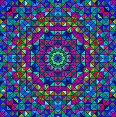 Color Abstract Geometric Retro Pattern. Stained-glass Window