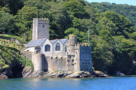 picture of dartmouth  - Dartmouth castle on the River Dart - JPG