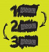 Abstract hand drawn numbers with a space for text. Can be used for infographic brochures, flyers or poster.