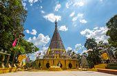 The stainless steel pagoda, Phra Maha Thad Chadi Tri Pob Tri, Hat Yai Songkhla Thailand