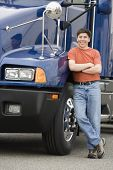 Man standing next to truck