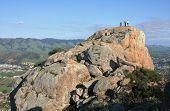 En la cima de pico de obispo