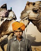 Young Indian camel guide, Thar Desert, Rajasthan.
