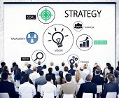 Diverse Business People in a Seminar About Strategy