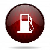 petrol red glossy web icon on white background