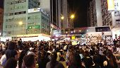 HONG KONG, Sep 29, 2014 : Protest for 2017 Chief Executive Election in Mong Kok
