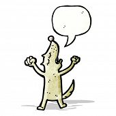 cartoon howling dog