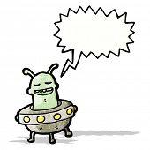 cartoon alien invader