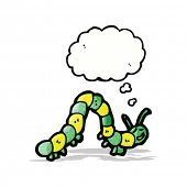 picture of caterpillar cartoon  - cartoon caterpillar with thought bubble - JPG